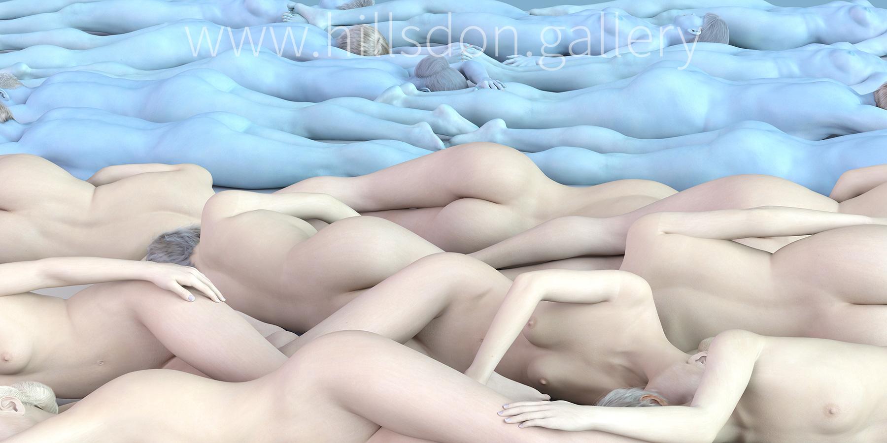 Naked Landscape (White) by Mark Hillsdon